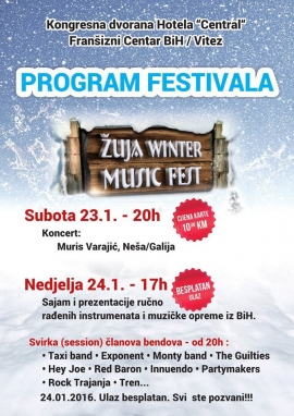 "Program festivala ""Žuja Winter Music Fest"""